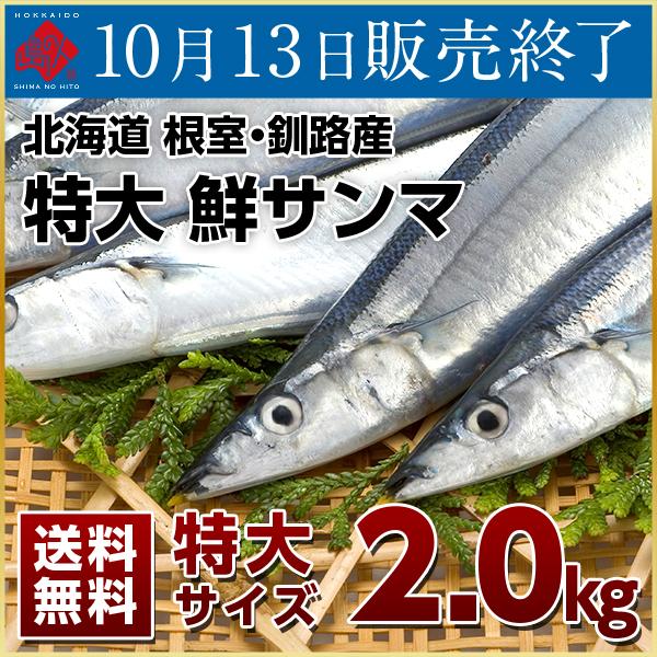 希少な特大 鮮さんま 2kg (約13-14尾) 送料無料