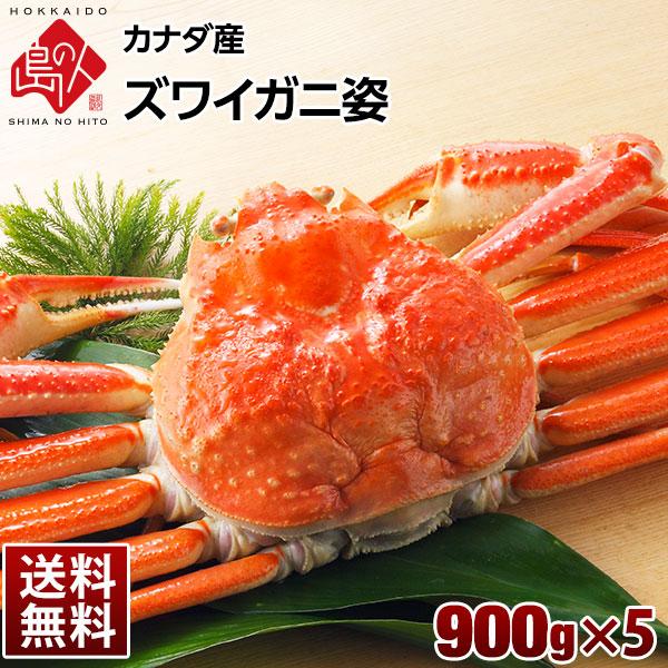 本ズワイガニ(姿) 900g×5【送料無料】 プレミアム級ズワイガニを堪能