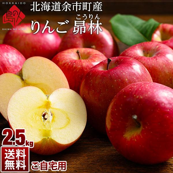 【予約販売】北海道余市産 りんご リンゴ2.5kg(訳あり品・品種:昴林)【送料無料】