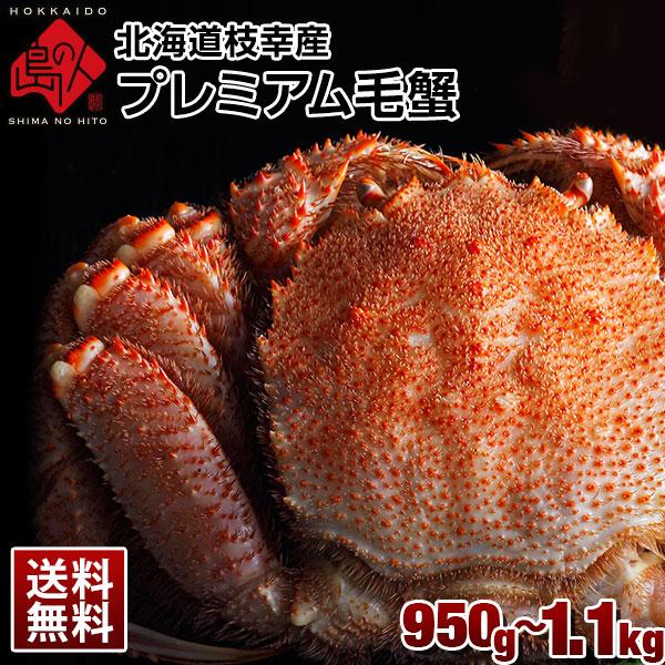 北海道 枝幸産 プレミアム毛蟹 950g〜1.1kg前後【送料無料】
