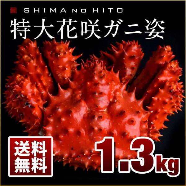 特大花咲ガニ 姿 1.3kg(ボイル済み)