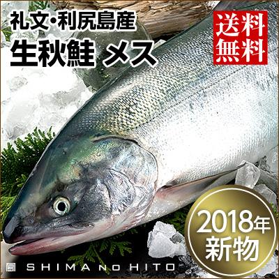 生秋鮭(礼文・利尻島産)メス 大3.0~3.5kg 送料無料