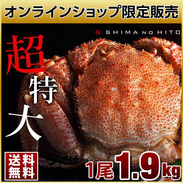 【数量限定10尾】ロシア産 特大毛蟹 (姿) 1尾 1.9kg【送料無料】