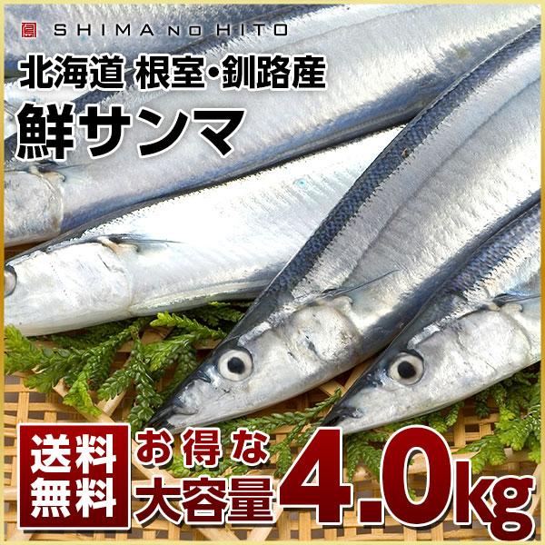 生サンマ 4.0kg 大容量【送料無料】(30~32尾)